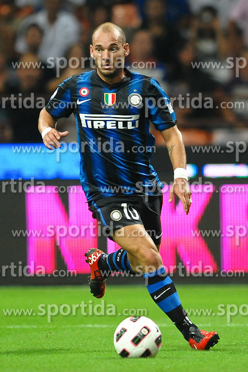 21.08.2010, Stadio Giuseppe Meazza, Mailand, ITA, Supercoppa Italiana 2010, Inter Mailand vs AS Rom, im Bild Wesley SNEIJDER Inter.EXPA Pictures © 2010, PhotoCredit: EXPA/ InsideFoto/ Andrea Staccioli +++++ ATTENTION - FOR AUSTRIA AND SLOVENIA CLIENT ONLY +++++... / SPORTIDA PHOTO AGENCY