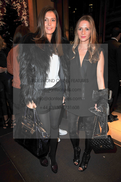 Left to right, AMANDA SHEPPARD and AMANDA CROSSLEY at a party to celebrate the launch of the new Mulberry leather case for Apple's iPhone held at the Mulberry store, Bond Street, London on 5th November 2009.