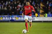 Jacob Murphy of Coventry City FC (on loan from Norwich City) during the Sky Bet League 1 match between Shrewsbury Town and Coventry City at Greenhous Meadow, Shrewsbury, England on 8 March 2016. Photo by Mike Sheridan.