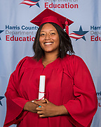 Adult Education graduates pose for a photograph, May 18, 2019.