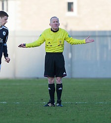 Referee David Somers..Dumbarton 0 v 2 Falkirk, 23/2/2013..©Michael Schofield.
