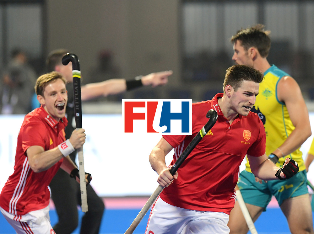 Odisha Men's Hockey World League Final Bhubaneswar 2017<br /> Match id:09<br /> Australia v England<br /> Foto: England scored 0-1 Liam Ansell (Eng)  and David Goodfield (Eng) <br /> WORLDSPORTPICS COPYRIGHT FRANK UIJLENBROEK