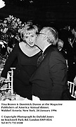 Tina Brown & Dominick Dunne at the Magazine Publishers of america annual dinner. Waldorf Astoria. New York. 24 January 1996<br />© Copyright Photograph by Dafydd Jones<br />66 Stockwell Park Rd. London SW9 0DA<br />Tel 0171 733 0108