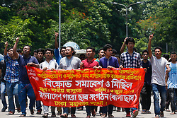 June 6, 2017 - Dhaka, Bangladesh - Bangladeshi Garo Student Union protests against the attack on tribal in Rangamati's Langadu at Dhaka on June 6, 2017. (Credit Image: © Mehedi Hasan/NurPhoto via ZUMA Press)