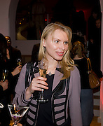 ELENA LAPTEVA;  Zaha Hadid and Triflow Concepts host the launch of a pioneering new kitchen and bathroom lifestyle. 46 Portland Place. London. 28 January 2009 *** Local Caption *** -DO NOT ARCHIVE-© Copyright Photograph by Dafydd Jones. 248 Clapham Rd. London SW9 0PZ. Tel 0207 820 0771. www.dafjones.com.<br /> ELENA LAPTEVA;  Zaha Hadid and Triflow Concepts host the launch of a pioneering new kitchen and bathroom lifestyle. 46 Portland Place. London. 28 January 2009