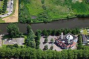 Nederland, Noord-Holland, Gemeente Zaanstad, 14-06-2012; Zaandam, Sultan Ahmet Moskee en Cultureel Centrum in de wijk Poelenburg...luchtfoto (toeslag), aerial photo (additional fee required);.copyright foto/photo Siebe Swart