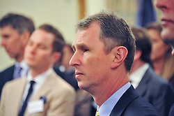NIGEL EVANS MP Deputy Speaker House of Commons at a reception for The Mirela Fund in partnership with Hope and Homes for Children hosted by Natalie Pinkham in The Churchill Room, House of Commons, London on 30th April 2013.