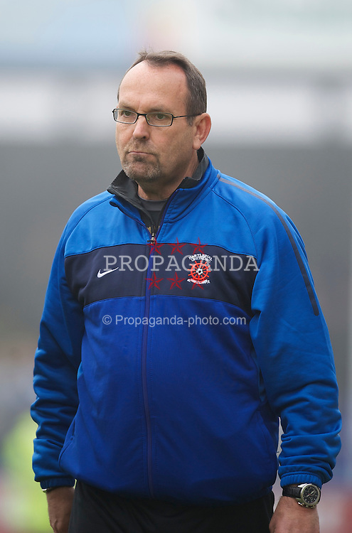HARTLEPOOL, ENGLAND - Friday, April 22, 2011: Hartlepool United's Mick Wadsworth during the Football League One match against Tranmere Rovers at Victoria Park. (Photo by David Rawcliffe/Propaganda)