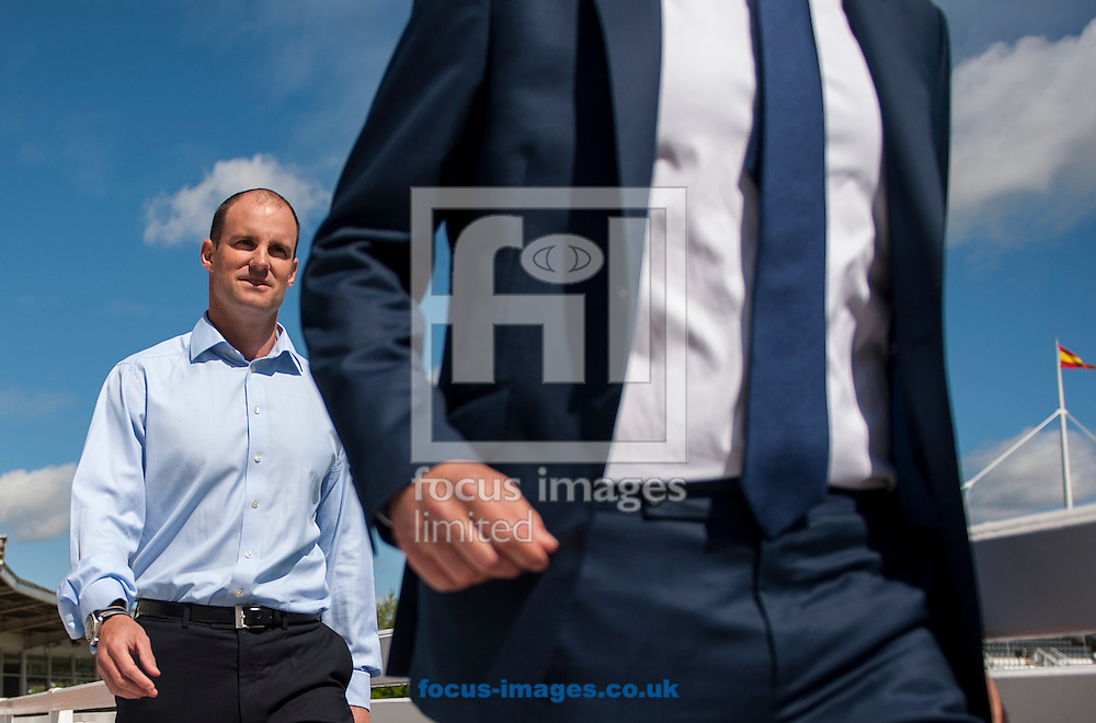 Andrew Strauss, the new Director of England Cricket and ECB CEO Tom Harrison during the ECB Press Conference to introduce him at Lord's, London<br /> Picture by Jack Megaw/Focus Images Ltd +44 7481 764811<br /> 12/05/2015
