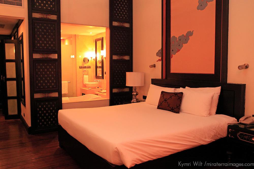 Asia, Bhuta, Thimpu. Taj Tashi Hotel room.