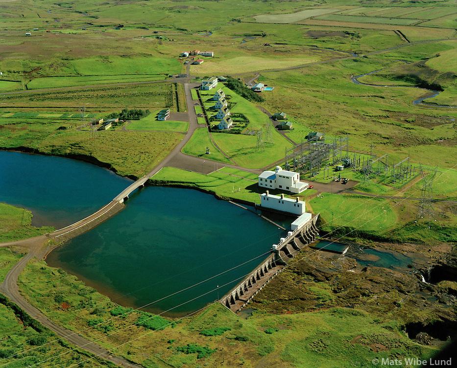 Írafossvirkjun séð til norðurs, Grímsnes- og Grafningshreppur / Irafoss hydroelectric power plant in river Sog, viewing north, Grimsnes- og Grafningshreppur