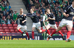 Falkirk's Craig Sibbald celebrates after scoring their first goal..Half time : Hibernian 0 v 3 Falkirk, William Hill Scottish Cup Semi Final, Hampden Park..©Michael Schofield..