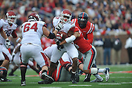 Ole Miss vs. Arkansas at Vaught-Hemingway Stadium in Oxford, Miss. on Saturday, November 9, 2013. Mississippi won 34-24. (AP Photo/Oxford Eagle, Bruce Newman)