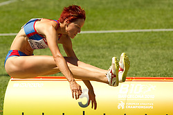 Jana Veldakova of Slovakia competes in the Womens Long Jump Qualifying during day one of the 20th European Athletics Championships at the Olympic Stadium on July 27, 2010 in Barcelona, Spain. (Photo by Vid Ponikvar / Sportida)