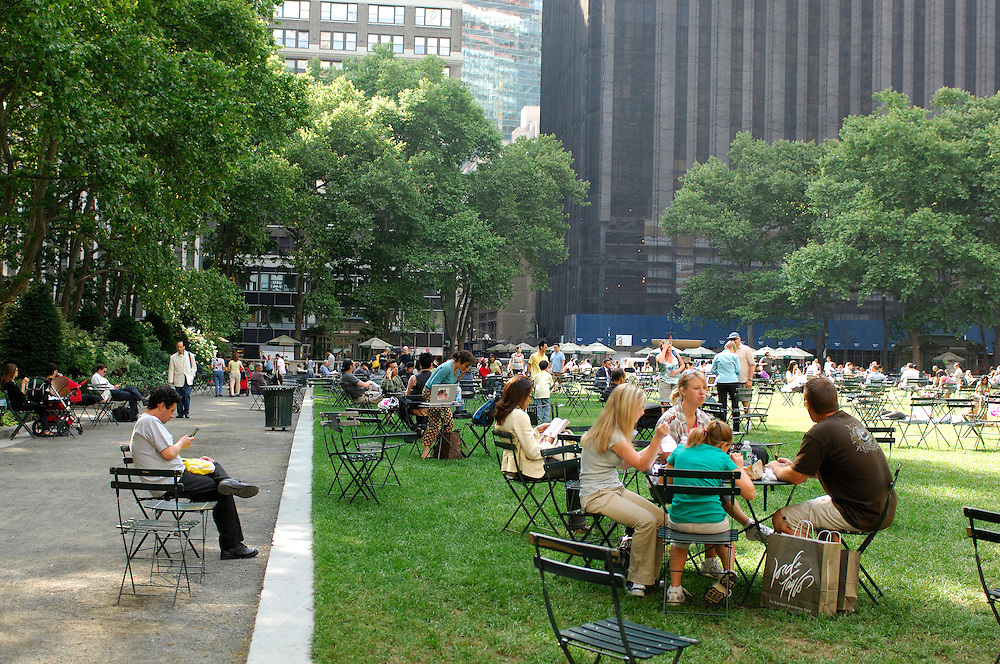 Bryant Park,Public Library, Midtown, Manhattan, New York, New York, USA