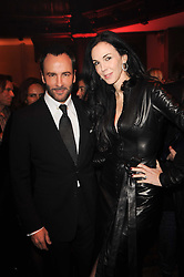 TOM FORD and L'WREN SCOTT at a Celebration of 10 Years of IHT Luxury Conferences during the International Herald Tribune Heritage Luxury Conference held at One Mayfair, 13 1/2 North Audley Streer, London on 9th November 2010.