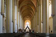 Klosterkirche innen, ehemaliges Zisterzienserkloster Haina in Haina, Nordhessen, Hessen, Deutschland | abbey church, Cistercian abbey Haina, Hesse, Germany
