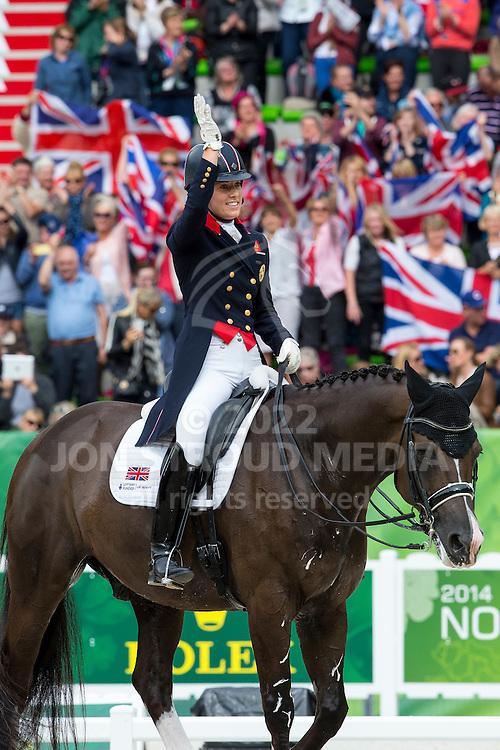 Charlotte Dujardin, (GBR), Valegro - Grand Prix Special Dressage - Alltech FEI World Equestrian Games&trade; 2014 - Normandy, France.<br /> &copy; Hippo Foto Team - Leanjo de Koster<br /> 25/06/14