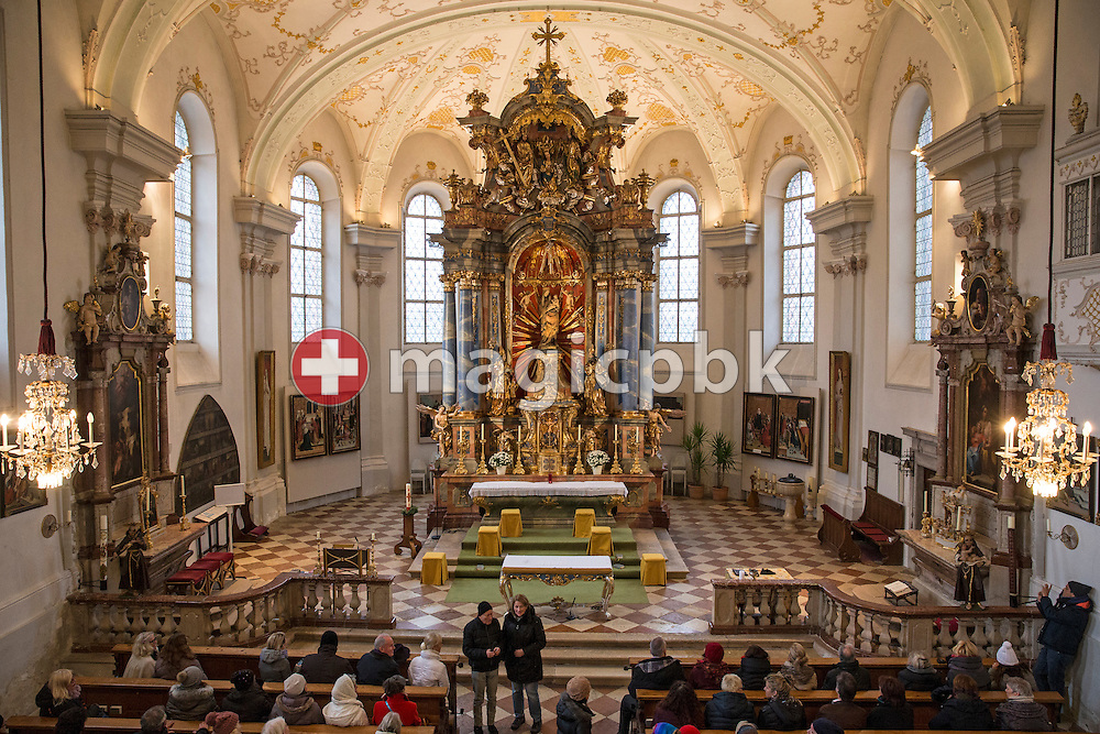 Impressions of the Church of the Virgin Mary in Grossgmain near Salzburg, Austria, Thursday, Nov. 26, 2015. (Photo by Patrick B. Kraemer / MAGICPBK)