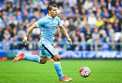 Sergio Aguero of Manchester City attacks - Mandatory byline: Matt McNulty/JMP - 07966386802 - 23/08/2015 - FOOTBALL - Goodison Park -Everton,England - Everton v Manchester City - Barclays Premier League