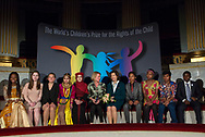 The World&rsquo;s Children&rsquo;s Prize Ceremony 2017 at Gripsholms Castle in Mariefred, Sweden. Child jury with H.M. Queen Silvia and Sweden&rsquo;s Minister for Children, &Aring;sa Regn&eacute;r. Photo: Sofia Marcetic/World's Children's Prize<br />