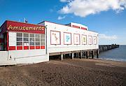 Amusement arcade on Felixstowe Pier, Suffolk, England