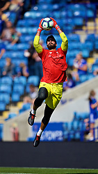 LEICESTER, ENGLAND - Saturday, September 1, 2018: Liverpool's goalkeeper Alisson Becker during the pre-match warm-up before the FA Premier League match between Leicester City and Liverpool at the King Power Stadium. (Pic by David Rawcliffe/Propaganda)