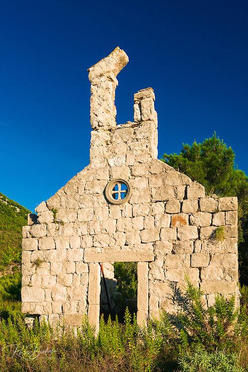 Church ruin, Ston, Dalmatian Coast, Croatia