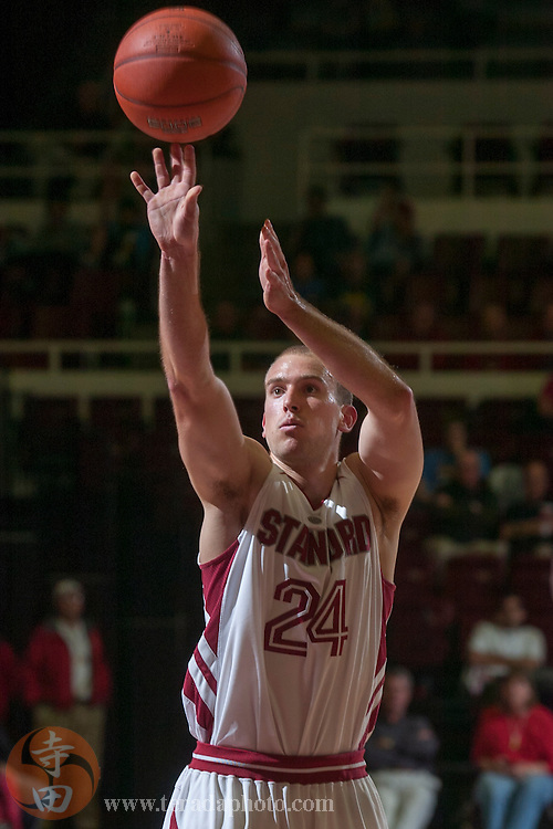 November 25, 2006; Stanford, CA, USA; Stanford Cardinal guard Chris Bobel (24) shoots the basketball during the game against the Denver Pioneers at Maples Pavilion. The Cardinal defeated the Pioneers 82-39.
