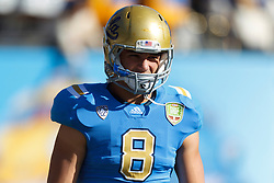 Dec 31, 2011; San Francisco CA, USA; UCLA Bruins tight end Joseph Fauria (8) warms up before the game against the Illinois Fighting Illini at AT&T Park. Illinois defeated UCLA 20-14. Mandatory Credit: Jason O. Watson-US PRESSWIRE