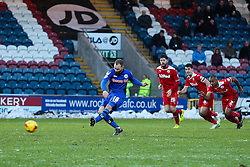 Rochdale's Matt Done misses a penalty  - Photo mandatory by-line: Matt McNulty/JMP - Mobile: 07966 386802 - 17.01.2015 - SPORT - Football - Rochdale - Spotland Stadium - Rochdale v Crawley Town - Sky Bet League One
