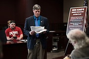 LA CROSSE, WI-FEB. 22, 2017: Rep. Ron Kind speaks to students and community members during a town hall meeting at The U - Student Union at UW-La Crosse Wed. Feb. 22, 2017. Lauren Justice for The New York Times