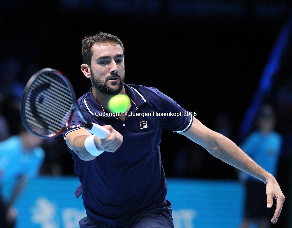 MARIN CILIC (CRO), ATP World Tour Finals, O2 Arena, London, England.<br /> <br /> Tennis - ATP World Tour Finals 2016 - ATP -  O2 Arena - London -  - Great Britain  - 16 November 2016. <br /> &copy; Juergen Hasenkopf/Grieves