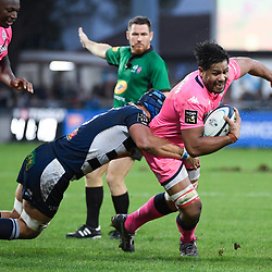 Talalelei GRAY of Stade Francais during the Top 14 match between Agen and Stade Francais on October 19, 2019 in Agen, France. (Photo by Julien Crosnier/Icon Sport) - Talalelei GRAY - Stade Armandie - Agen (France)