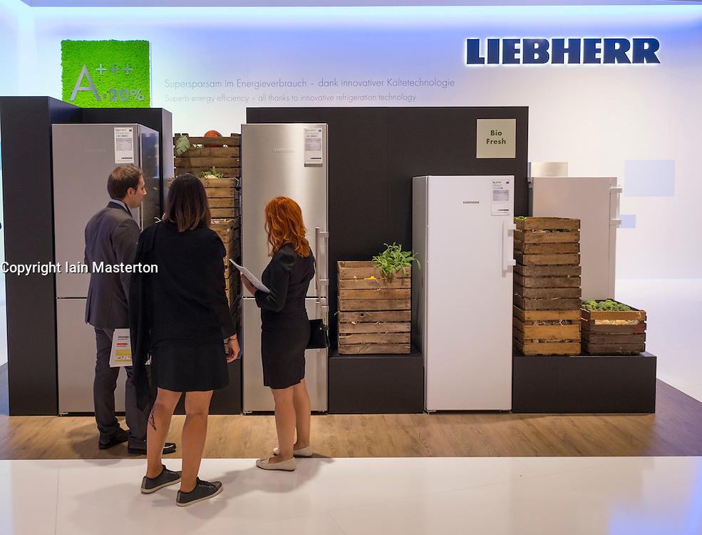 Refrigerators on Liebherr stand at 2016  IFA (Internationale Funkausstellung Berlin), Berlin, Germany