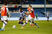 James Bree of Luton Town challenges Jacob Murphy of Sheffield Wednesday during the EFL Sky Bet Championship match between Sheffield Wednesday and Luton Town at Hillsborough, Sheffield, England on 20 August 2019.