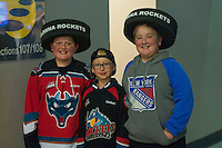 KELOWNA, CANADA - JANUARY 7: Young fans on January 7, 2017 at Prospera Place in Kelowna, British Columbia, Canada.  (Photo by Marissa Baecker/Shoot the Breeze)  *** Local Caption ***