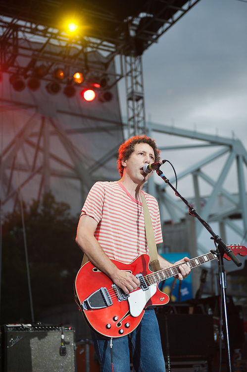 Ira Kaplan of Yo La Tengo performs at Bunbury Music Festival at Yeatman's Cove in Cincinnati, Ohio on July 14, 2013.