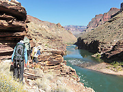 hiking from Fishtail rapids to Deer Creek in the Grand Canyon