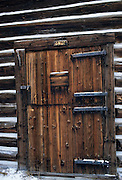 Winter, Log Cabin, Cabin, chinking, Glacier National Park, Montana
