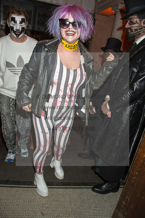 JAIME WINSTONE at the Veuve Clicquot Widow Series launch party hosted by Nick Knight and Jo Thornton MD Moet Hennessy UK held at The College, Central St.Martins, 12-42 Southampton Row, London on 29th October 2015.
