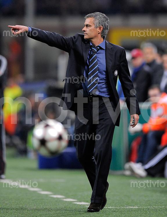 FUSSBALL  International  Champions League  SAISON 2009/2010    Inter Mailand  - FC Barcelona      20.04.2010 Trainer Jose Mario Santos Mourinho (Inter)