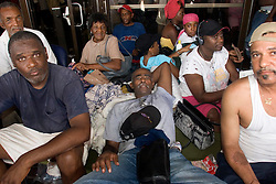 31st August, 2005. New Orleans Louisiana. Hurricane Katrina.  'Hell on earth.' The Superdome in New Orleans, Louisiana where over 20,000 refugees from hurricane Katrina are crammed into hellish conditions. <br /> Photo Credit: Charlie Varley/varleypix.com