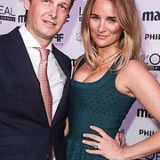 NLD/Amsterdam/20150119 - De Marie Claire Prix de la Mode awards, Lieke van Lexmond en partner Bas van Veggel