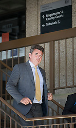 © Licensed to London News Pictures. 23/08/2016. London, UK. BHS buyer Dominic Chappell leaves Aldershot Magistrates court after receiving a six month driving ban and a fine.  Photo credit: Peter Macdiarmid/LNP