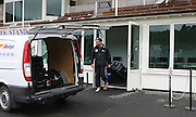 Jesse Ryder leaves the dressing room to load his gear in the players van after play was called off early on day 5. New Zealand v West Indies, First Test Match, National Bank Test Series, University Oval, Dunedin, Monday 15 December 2008. Photo: Andrew Cornaga/PHOTOSPORT