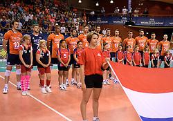 08-06-2014 NED: WLV Nederland - Portugal, Almere<br /> Line up Nederland