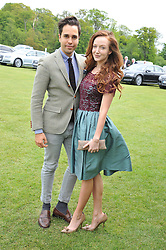OLIVIA GRANT and DIEGO BIVERO-VOLPE at the St.Regis International Polo Cup between England and South America held at Cowdray Park, West Sussex on 18th May 2013.  South America won by 11 goals to 9 goals.