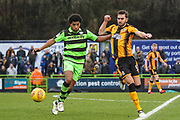 Forest Green Rovers Reuben Reid(26) on the ball during the EFL Sky Bet League 2 match between Forest Green Rovers and Cambridge United at the New Lawn, Forest Green, United Kingdom on 20 January 2018. Photo by Shane Healey.