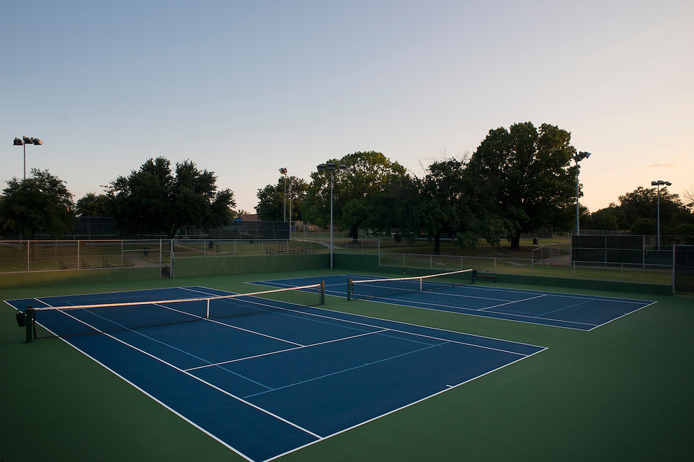 General views of the Samuel Grand Tennis Center in Dallas, Texas on August 2, 2014. (Cooper Neill for The New York Times)